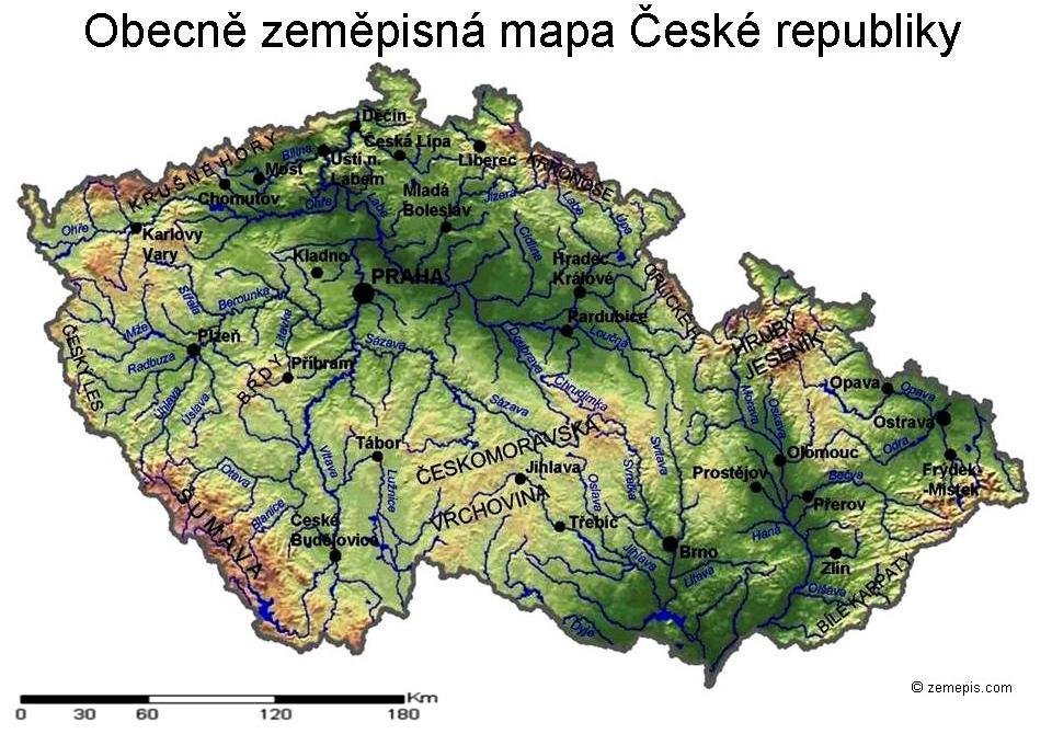 Obecne Zemepisna Mapa Cr