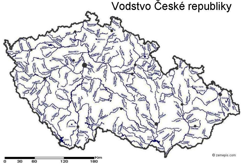 Mapa Vodstva Cr