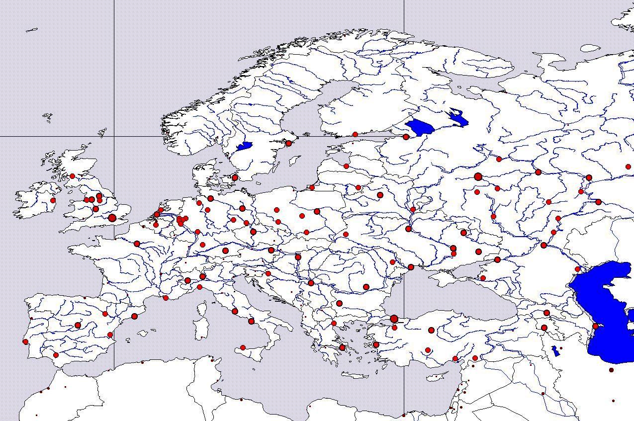 Slepa Mapa Evropy