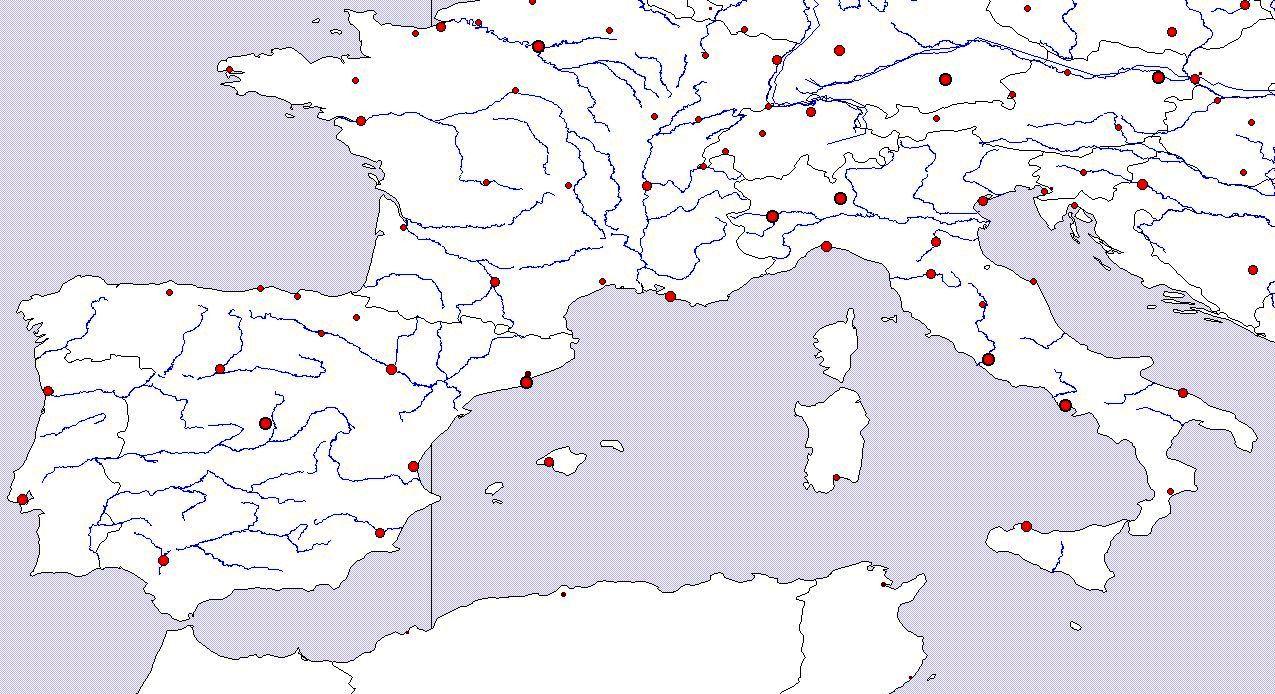 Slepa Mapa Jizni Evropy