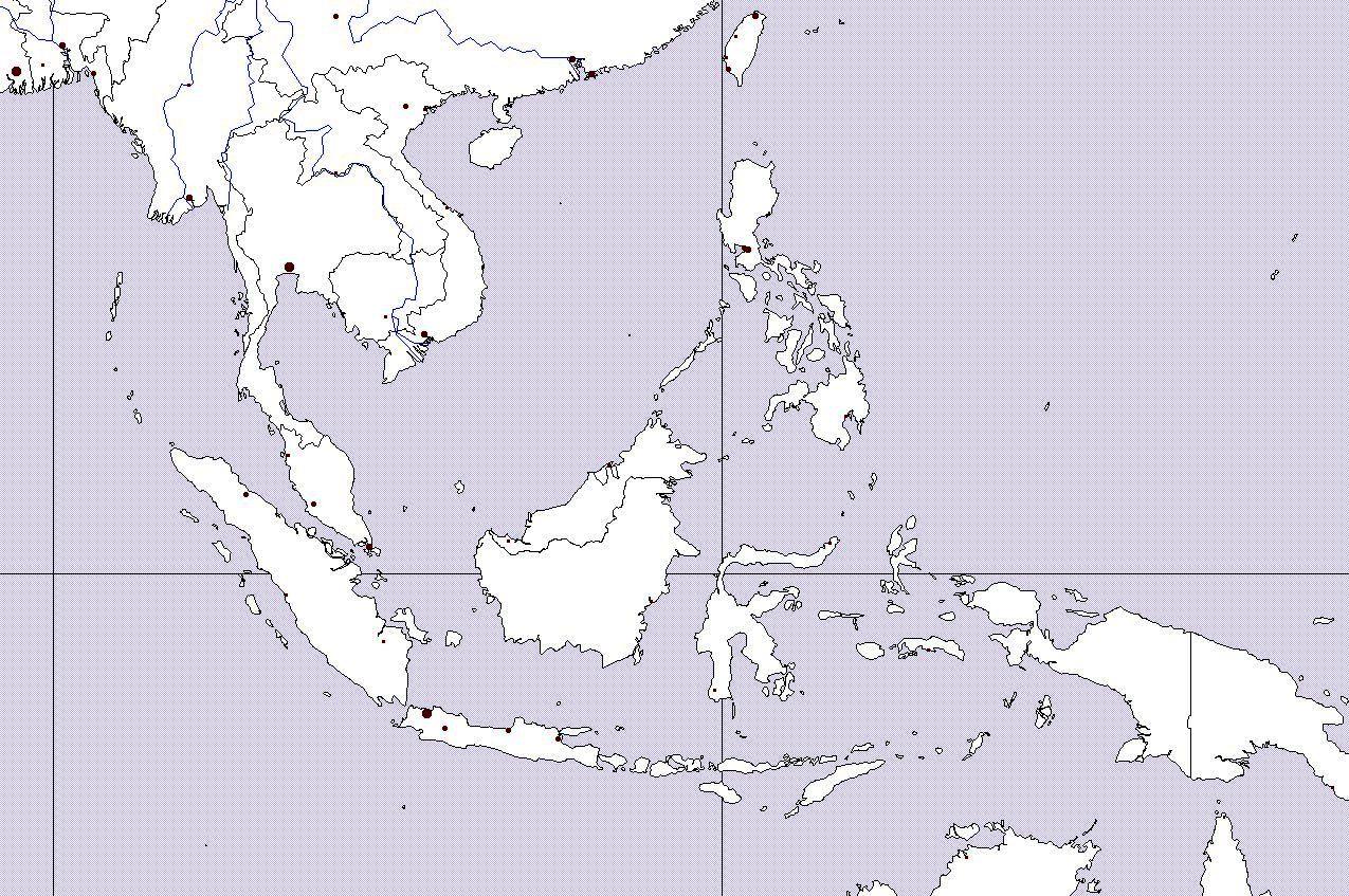 Slepa Mapa Jihovychodni Asie
