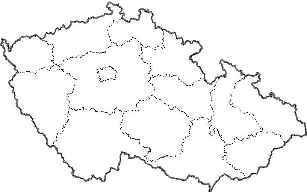 Slepa Mapa Kraju Cr