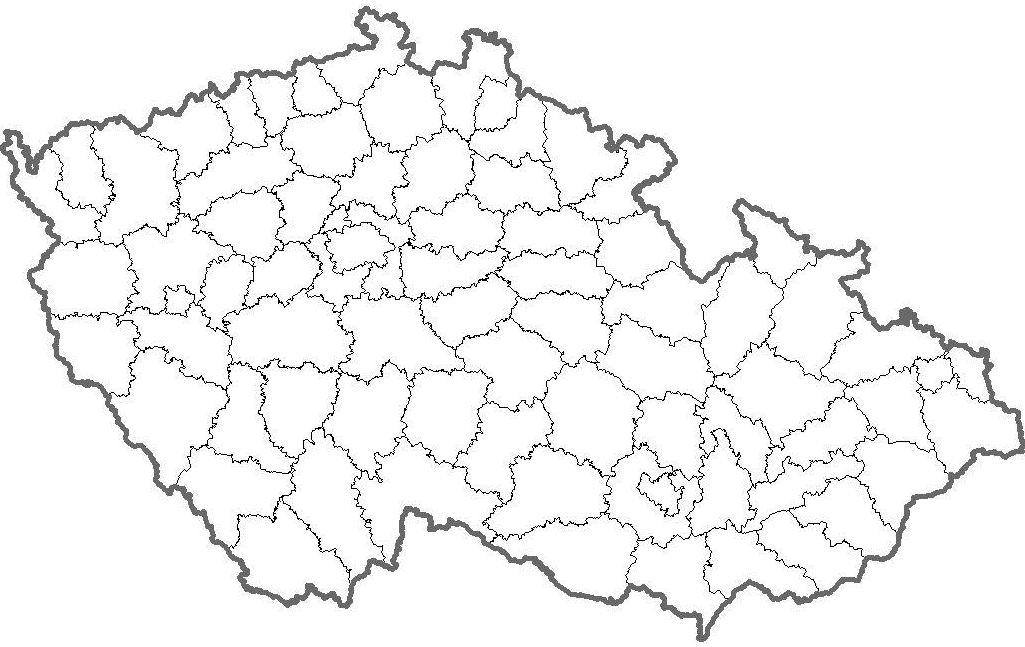 Slepa Mapa Okresu Cr