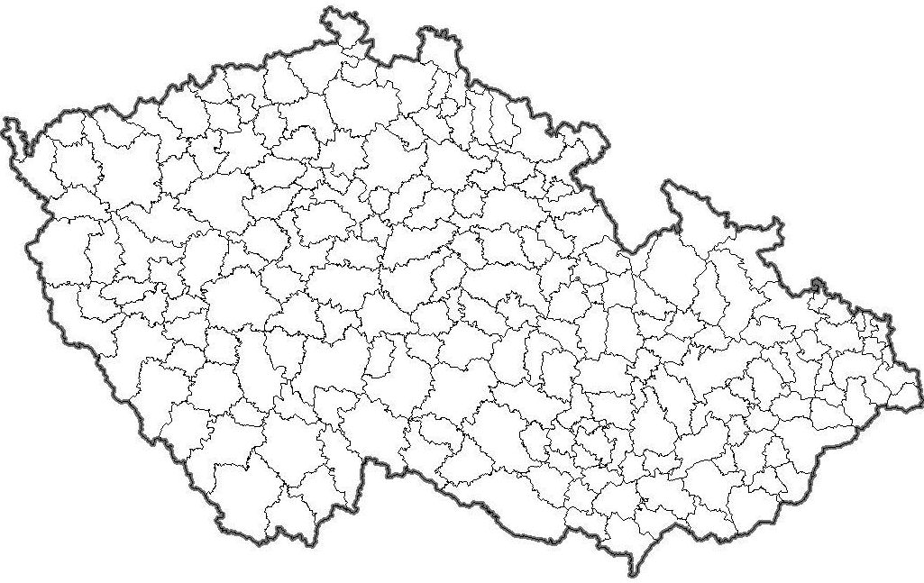 Slepa Mapa Okresu S Rozsirenou Pusobnosti Cr