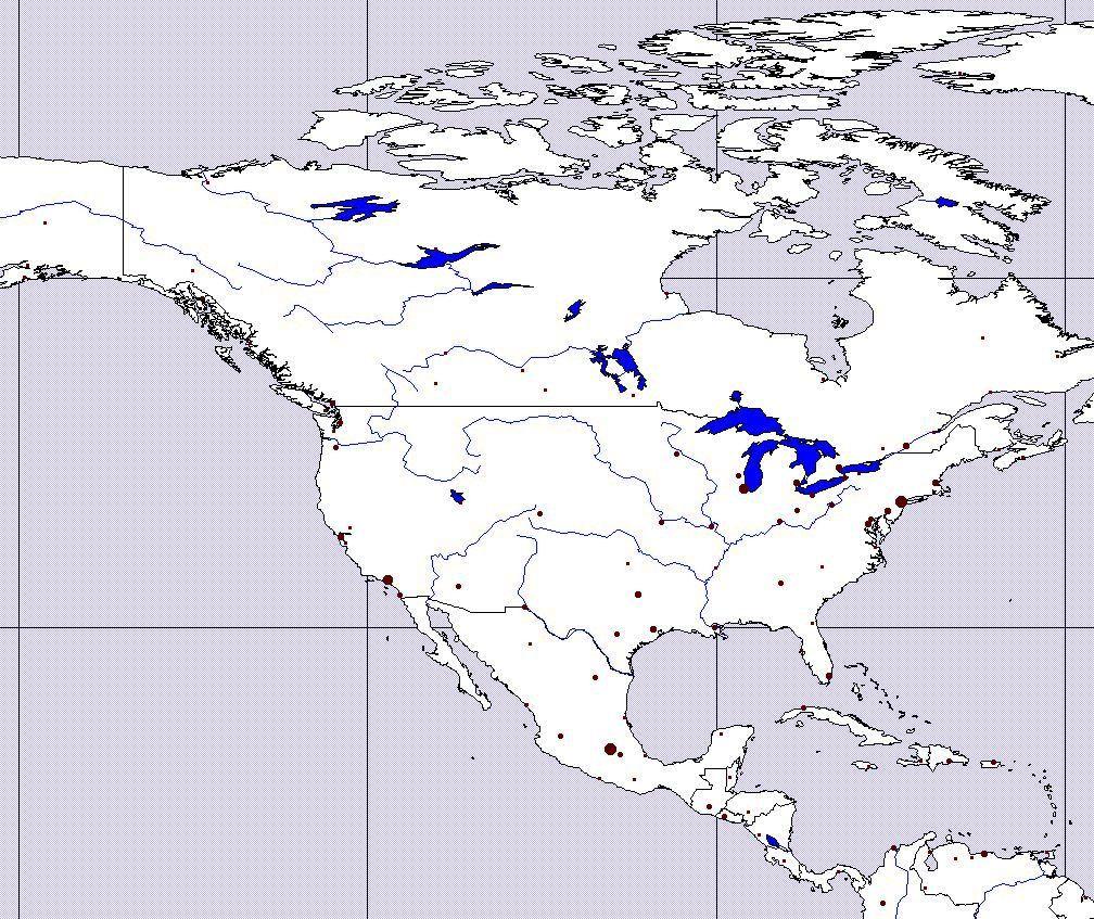 Slepa Mapa Severni Ameriky