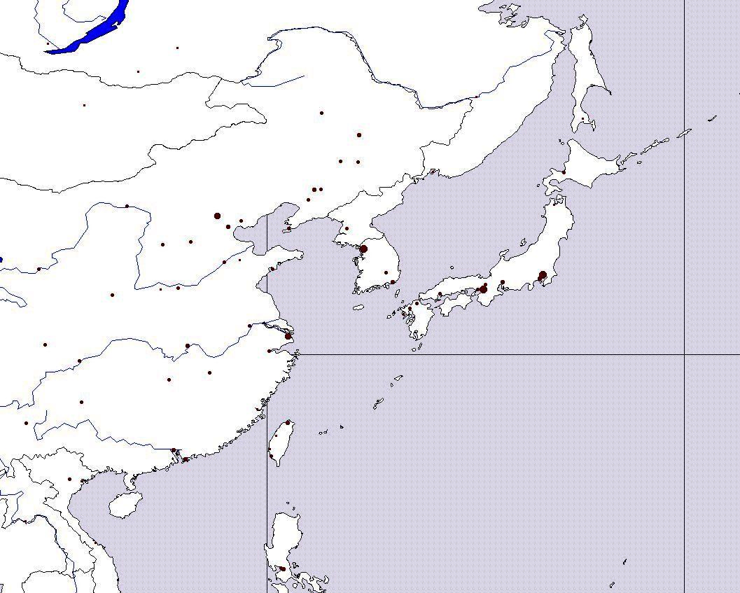 Slepa Mapa Vychodni Asie