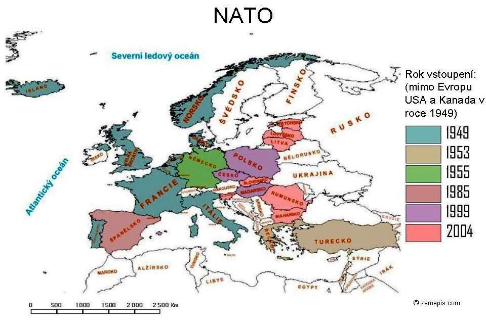 Mapa Nato